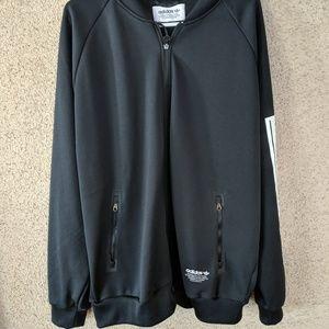 Adidas Black Jacket Brand With 3 Stripes 2XL Rare